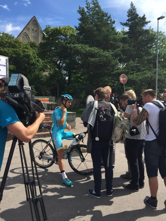 Spordimeedia pidupäev, Tanel Kangert Eestis võistlemas